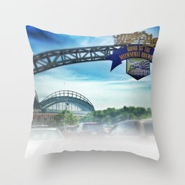 Gameday at Miller Park Throw Pillow