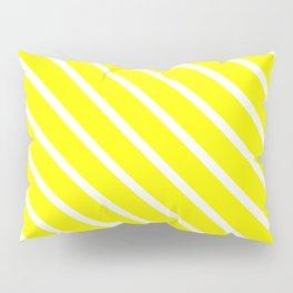 Neon Yellow Diagonal Stripes Pillow Sham