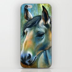 Horse in Blue iPhone & iPod Skin