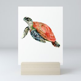 Sea Turtle, turtle art, turtle design Mini Art Print