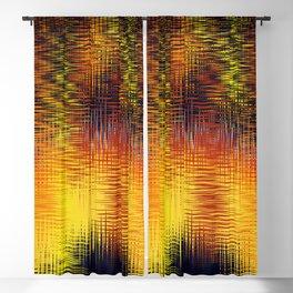 wave fire design Blackout Curtain