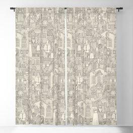 vintage halloween drab ivory Blackout Curtain
