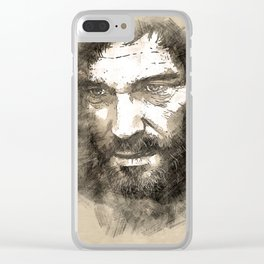 Joel - The Last Of Us [sketch] Clear iPhone Case