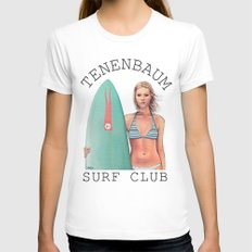 Tenenbaum Surf Club MEDIUM White Womens Fitted Tee