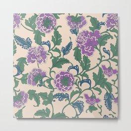 traditional purple-coloured flower Metal Print