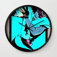 fitzgerald Wall Clocks featuring Catch & Run by Thirty3