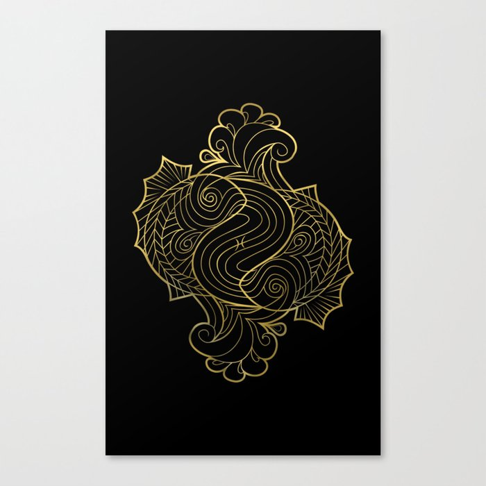 Pisces Gold Canvas Print