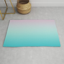 Pastel Ombre Pink Blue Teal Gradient Pattern Rug
