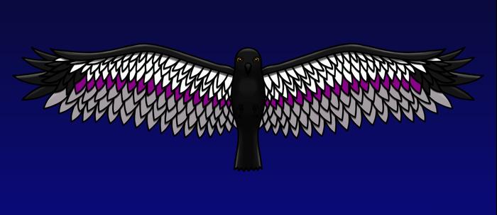 Fly With Pride, Raven Series - Demisexual Coffee Mug