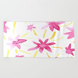 Magenta Love Beach Towel