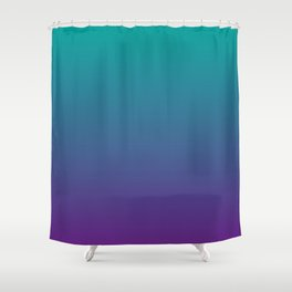 Ombre | Teal and Purple Shower Curtain