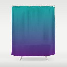 Ombre | Color Gradients | Gradient | Two Tone | Teal | Purple | Shower Curtain