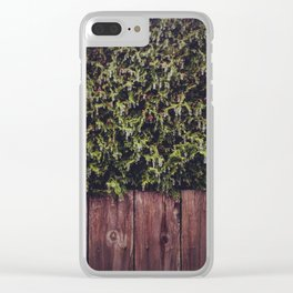 Frozen Hedge Clear iPhone Case