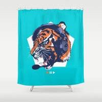 dj Shower Curtains featuring DJ Wildcats by Steven Toang