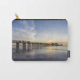 Sunset over Naples Pier in Florida from the beach Carry-All Pouch