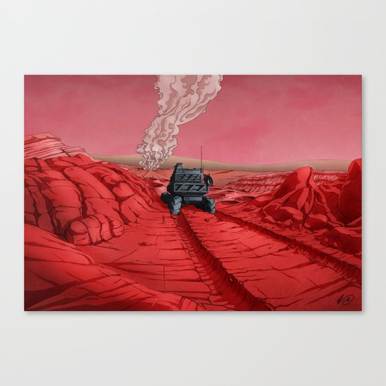 Green Mars Canvas Print