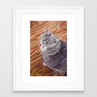 sasha grey Framed Art Prints featuring Sasha by Michael Hammond