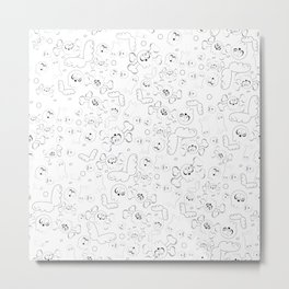 Skulls and ghosts pattern Metal Print