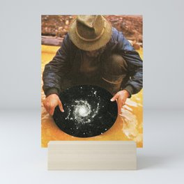 Panning for gold Mini Art Print