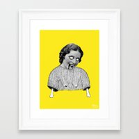 carmilla Framed Art Prints featuring Carmilla by Mathilde Clement