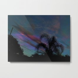 Palm Sun Down Metal Print