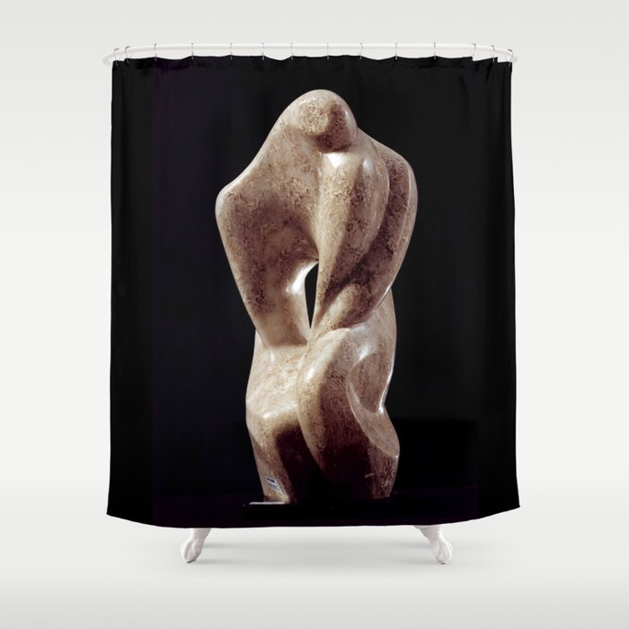 David and Jonathan by Shimon Drory Shower Curtain