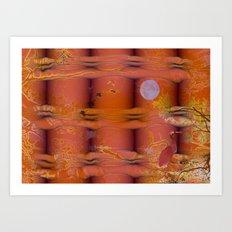 ABSTRACT - Migratory Cranes Art Print