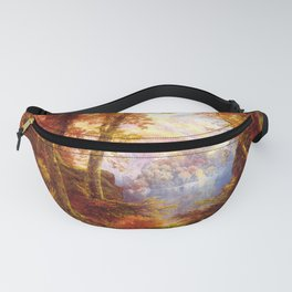 Under The Trees 1865 By Thomas Moran   Natural Wildlife Scenery Reproduction Fanny Pack