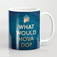 jay z Mugs featuring What Would Hova Do? - Jay-Z by Luke Eckstein