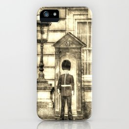 Buckingham Palace Queens Guard Vintage iPhone Case
