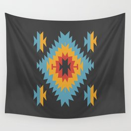 Santa Fe Southwestern Native Navajo Indian Tribal Geometric Pattern Wall Tapestry