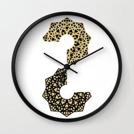 creative Yin Yang harmony mandala  Wall Clock