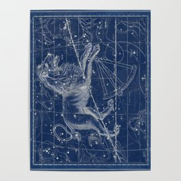 Leo sky star map Poster