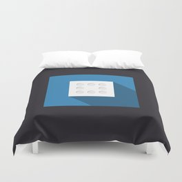 """Dice """"eight"""" with long shadow in new modern flat design Duvet Cover"""