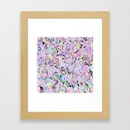 Marbled Pastel Gerahmter Kunstdruck