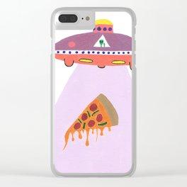 Pizza Alien Clear iPhone Case