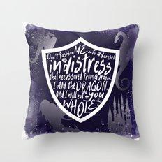 I am the Dragon Throw Pillow