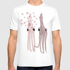 Squid Seduction White SMALL Mens Fitted Tee