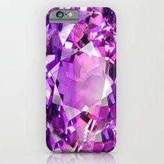 Purple Amethyst  February Gemstone Abstract iPhone 6s Slim Case