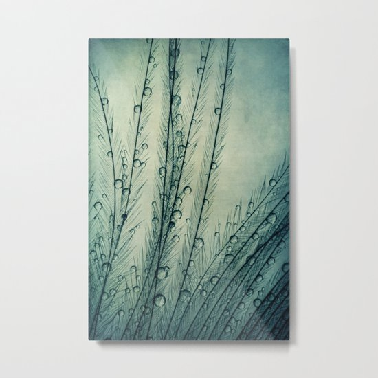 Moody Blues Feather Drops Metal Print
