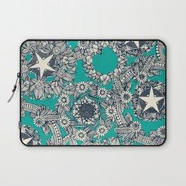 cirque fleur turquoise Laptop Sleeve