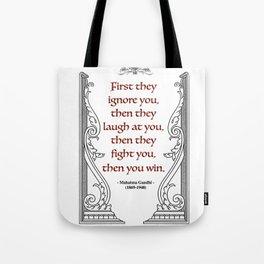Mahatma Gandhi Aphorism, Words of Wisdom Tote Bag