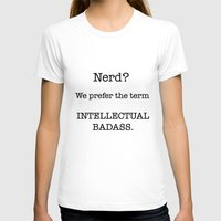 nerd T-shirts featuring Nerd by redbigbike