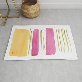 17   |181026 Lines & Color Block | Watercolor Abstract | Modern Watercolor Art Rug
