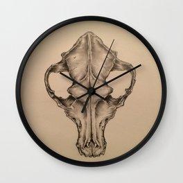 Coyote Skull Wall Clock