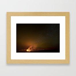 Halemaʻumaʻu Crater, Hawaii Volcanoes National Park Framed Art Print