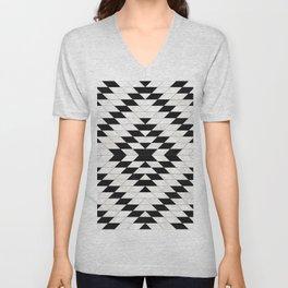 Urban Tribal Pattern No.15 - Aztec - White Concrete Unisex V-Neck