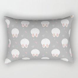 Funny Rabbit print Rectangular Pillow