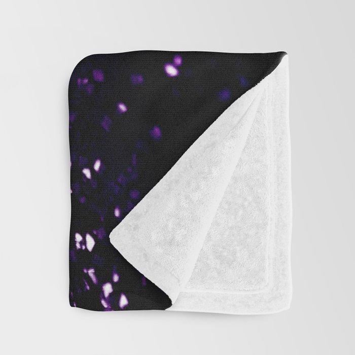 Dark Night Purple Black Silver Glitter #1 #shiny #decor #art #society6 Throw Blanket