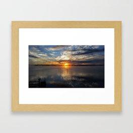 Sunset Over Lake Cayuga Framed Art Print